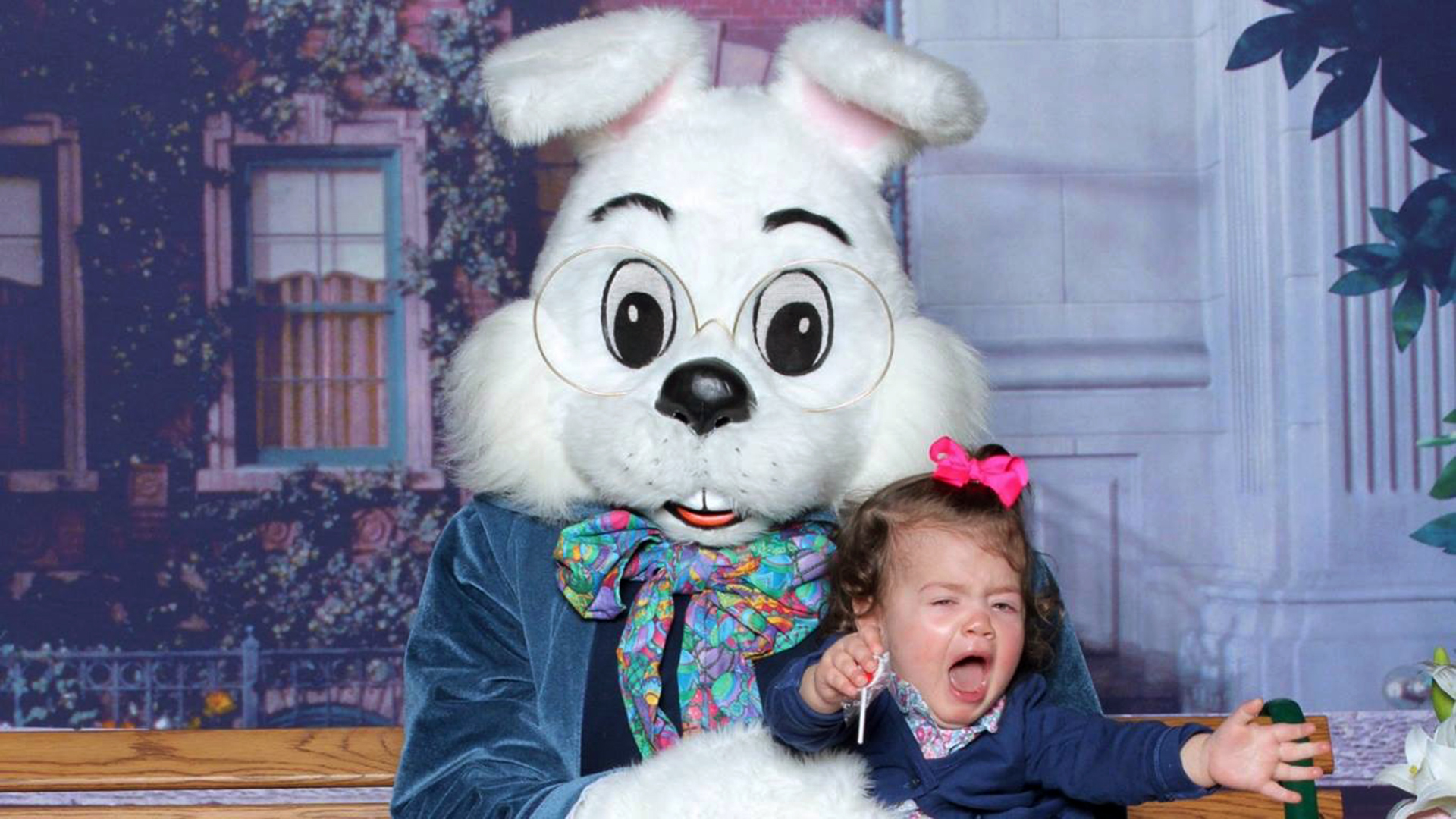 Kids terrified of easter Bunny