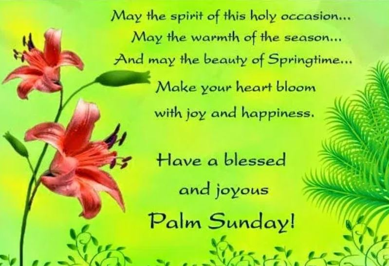 Happy Palm Sunday Wishes