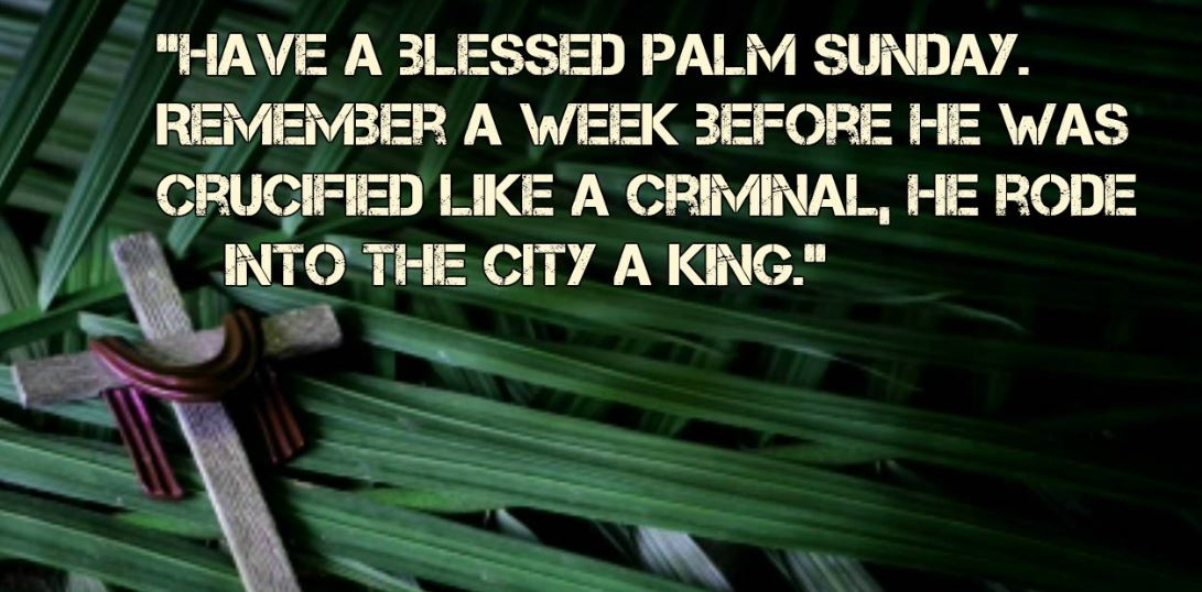 Palm Sunday Messages 2020