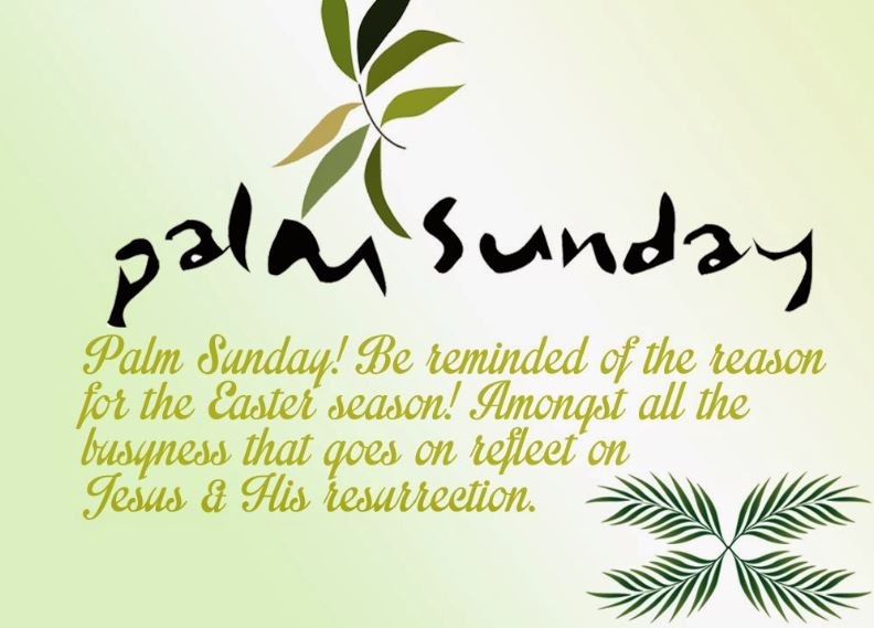 Palm Sunday Wishes for Friends and Family
