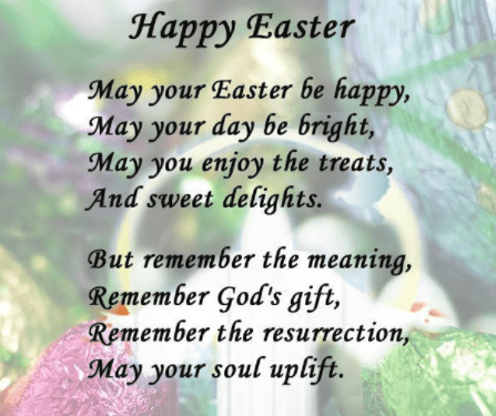Easter Poems and Prayers For Preschoolers