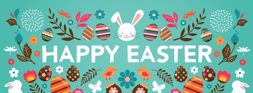 Cute easter banner template