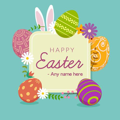 Happy Easter 2020 Images Card With Name Wishes