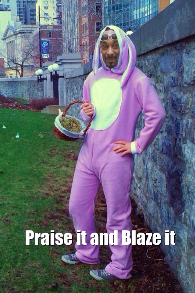 happy easter weed meme